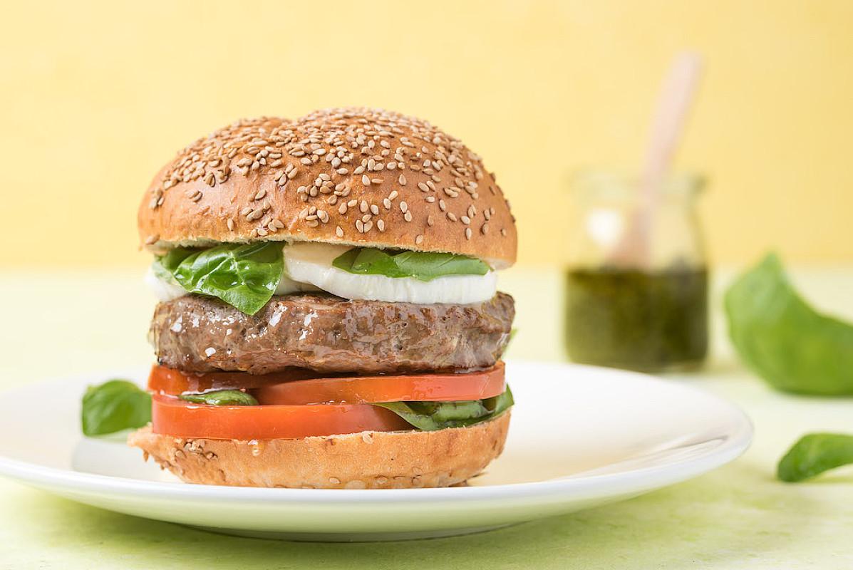 Burger caprese con chianina