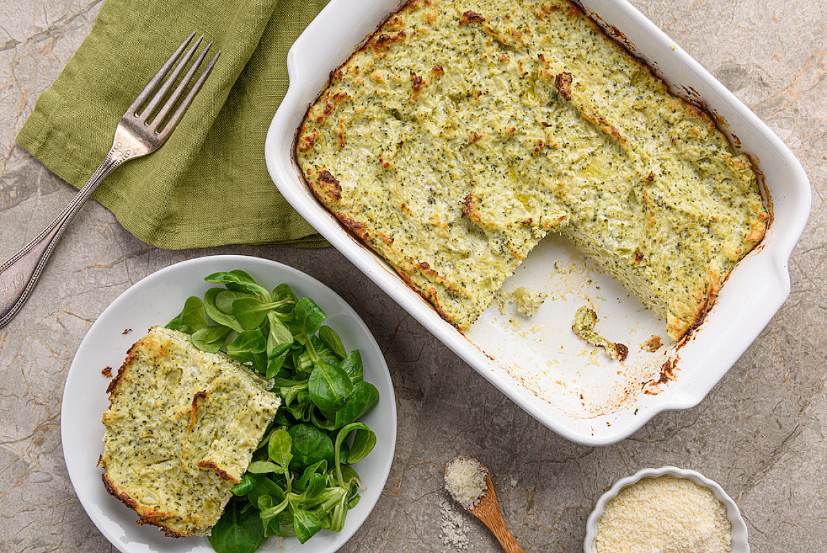 Sformato di broccoli e pecorino