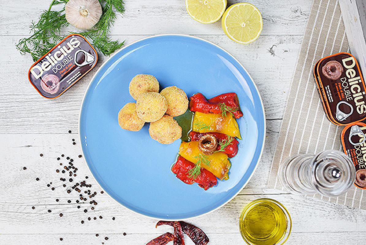 Polpettine di salmone con alici Delicius Double piccanti