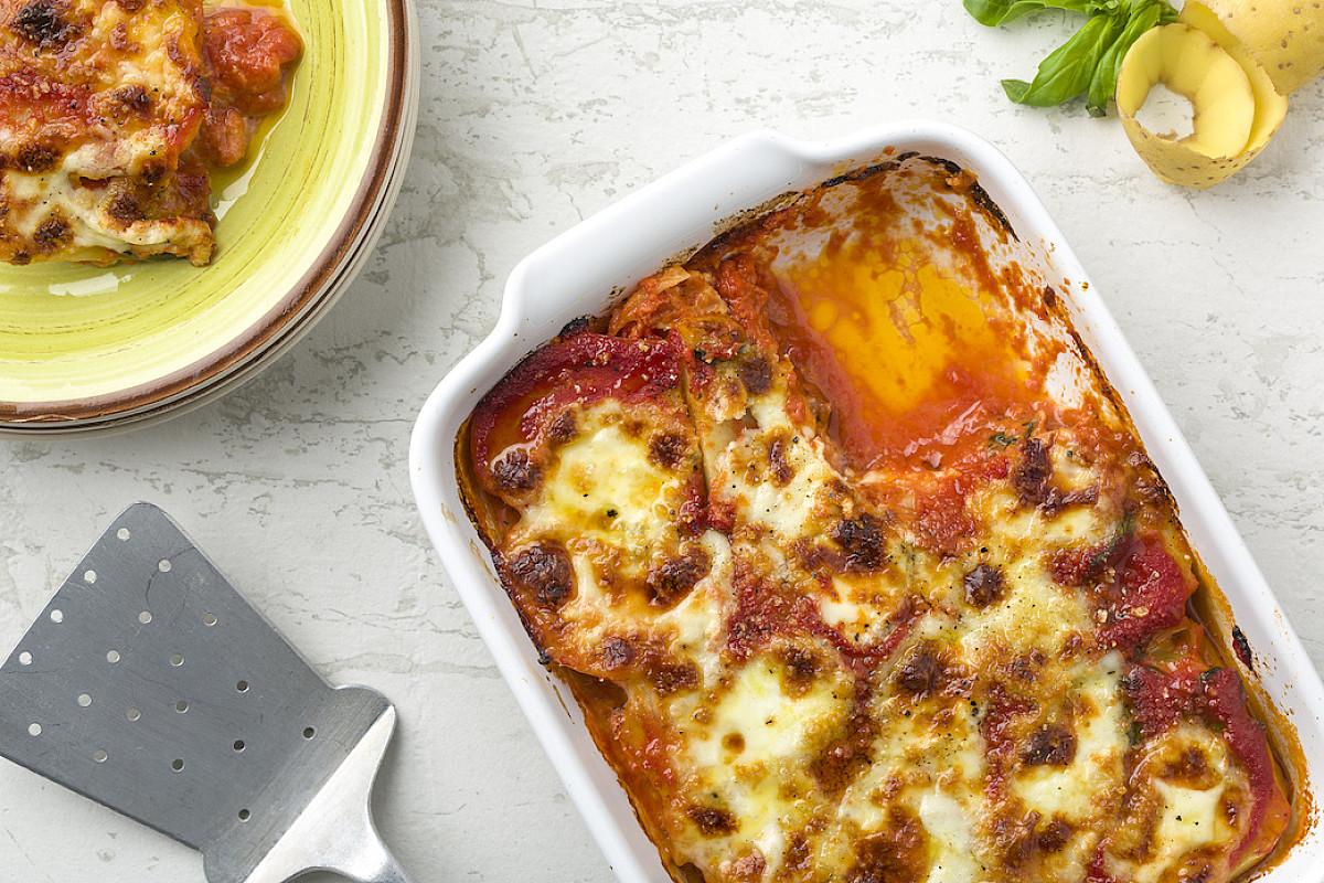 Parmigiana di patate al pomodoro