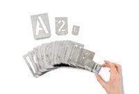 Schablonen, Buchstaben und Zahlen