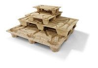 Pressholz-Palette terra, 800 x 600 mm, für 1/2 Euro, 4-seitig befahrbar, 4,5 kg