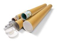Versandrohre mit Kunststoffdeckel und -boden