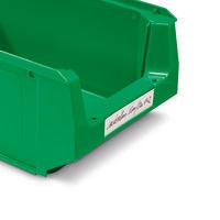 Etiketten für Sichtlagerkästen aus Kunststoff ECONOMY