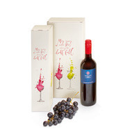 Flaschen-Geschenkfaltschachtel, Fresh