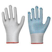 Strickhandschuhe Polyamid/Baumwolle, einseitig benoppt
