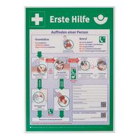 Schild - Anleitung Erste Hilfe
