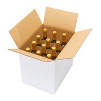 Weinflaschenkarton 12er mit Automatikgefache