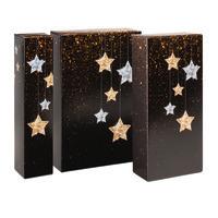 Flaschen-Geschenkfaltschachtel, Sterne