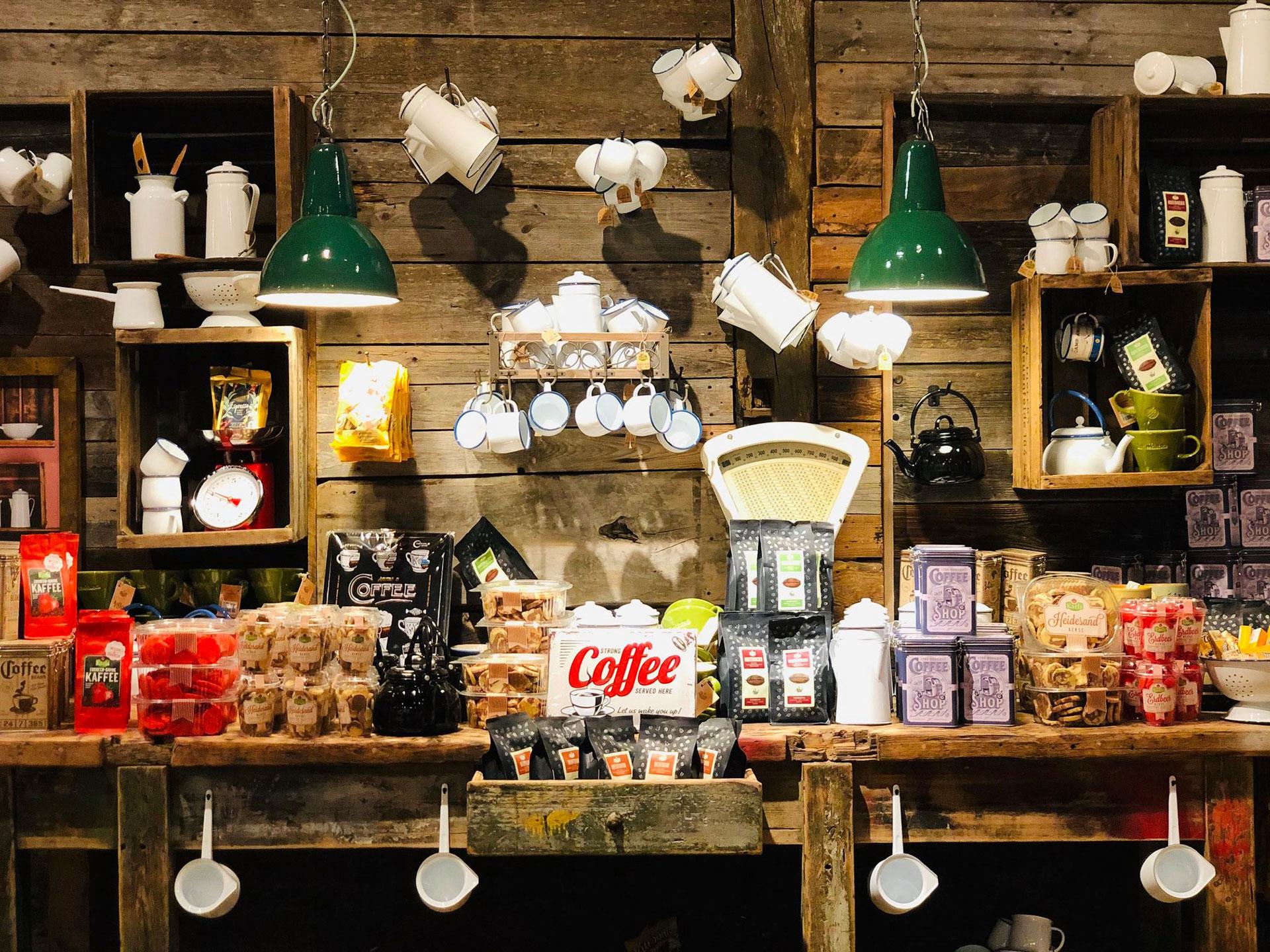 Einkaufen Bauernmarkt Emaille Shop