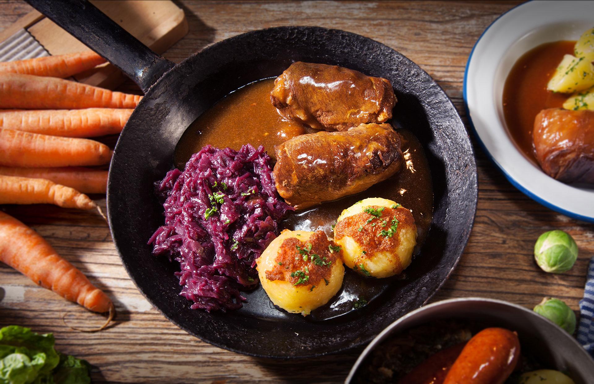 Essen Hof-Küche Roulade