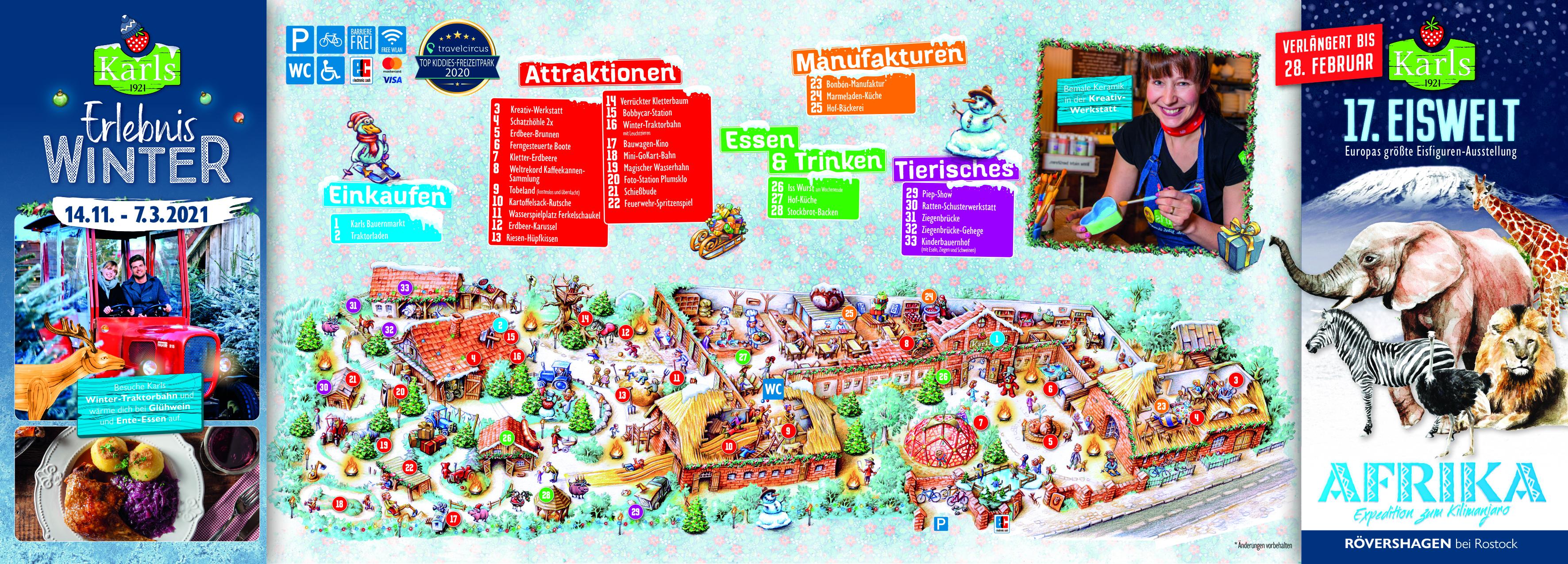 Dorfplan Warnsdorf Winter 2020/2021