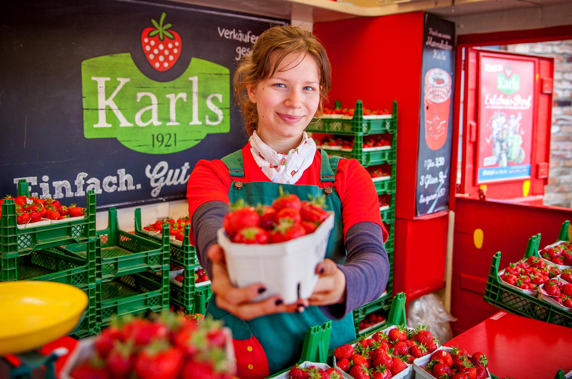 Mitarbeiter Erdbeerverkauf Job