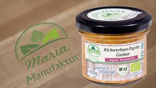 No 02: Kichererbsen, Paprika & Gurken Gurkenerzeugnis Paprikaerzeugnis Kichererbsenerzeugnis Gemüseaufstrich  von Maria Manufaktur in Auerbach