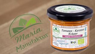 No 05: Tomaten, Karotten & Kräuter Gemüseaufstrich Karottenerzeugnis Tomatenerzeugnis  von Maria Manufaktur in Auerbach