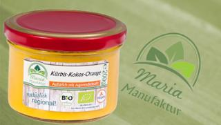 Fruchtaufstrich Kürbis-Kokos-Orange Kürbiserzeugnis Gemüseaufstrich Fruchtaufstrich  von Maria Manufaktur in Auerbach