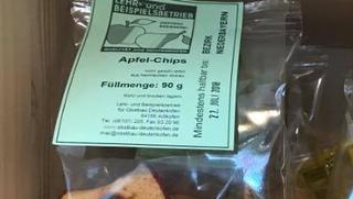 Apfelchips  von DREIMALIG - Grenzenlos Besonders in Freyung