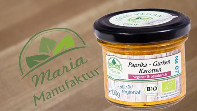 No 07: Paprika, Gurken & Karotten Gurkenerzeugnis Gemüseaufstrich Paprikaerzeugnis Karottenerzeugnis  von Maria Manufaktur in Auerbach