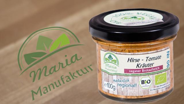 No 06: Hirse, Tomate & Kräuter Gemüseaufstrich Hirseerzeugnis Tomatenerzeugnis Getreideaufstrich  von Maria Manufaktur in Auerbach