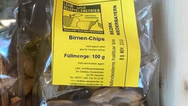 Birnenchips  von DREIMALIG - Grenzenlos Besonders in Freyung