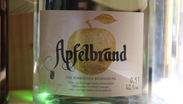 Apfelbrand vom Böhmischen Brünnerling  von Säumerhof Bio-Genusswelt in Grafenau