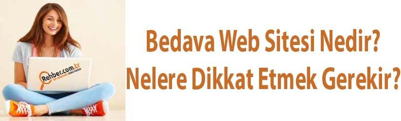 Bedava Web Sitesi Kurmak mı?