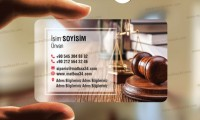 Avukat Şeffaf Kartvizit