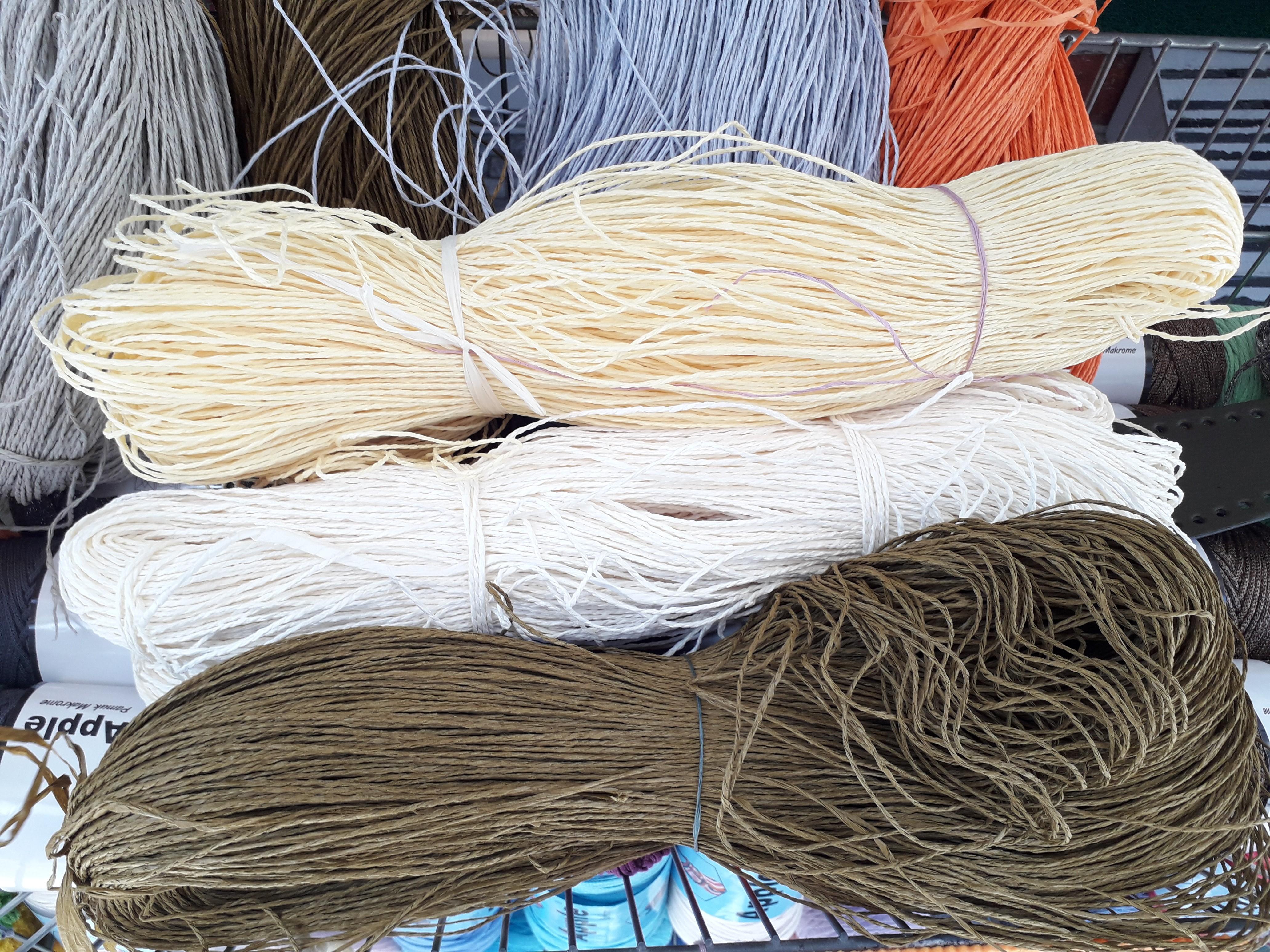 Straw & Paper Yarn Rolls