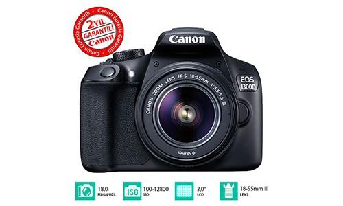 Canon 1300D 18-55mm DSLR Fotoğraf Makinesi