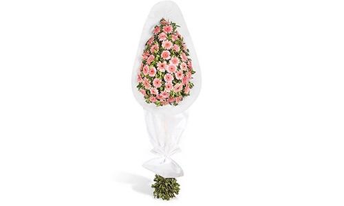 Pembe Düşler Gerbera Çelengi - Artvin Çiçekçi