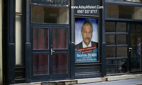 muhtar adayları afiş tasarımı