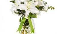 Kokulu Beyaz Lilyum Aranjmanı - Artvin Çiçekçi
