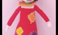 Ami008 varol amigurumi organik el örmesi doğal oyuncak bebek