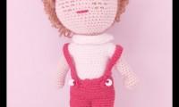 Ami004 bıcılık amigurumi organik el örmesi doğal oyuncak bebek