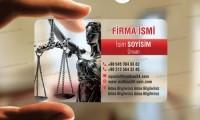 Avukat Şeffaf Kartvizit 008