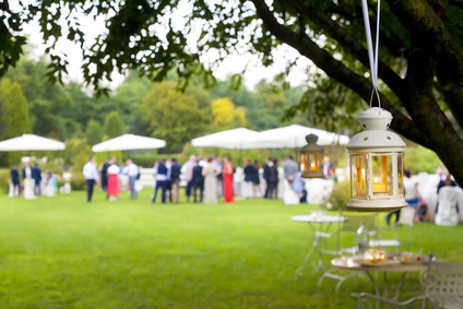 Windlicht Garten Hochzeit