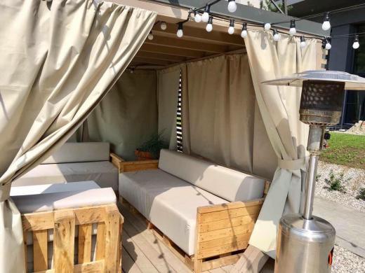 Šviesus dviejų kambarių butas su balkonu ir terasa Palangoje-7