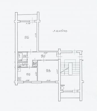 Parduodamas 2 kambarių butas-1