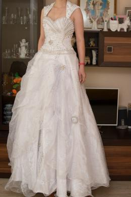 Rankų darbo vestuvinė suknelė pagaminta Švedijoje-0
