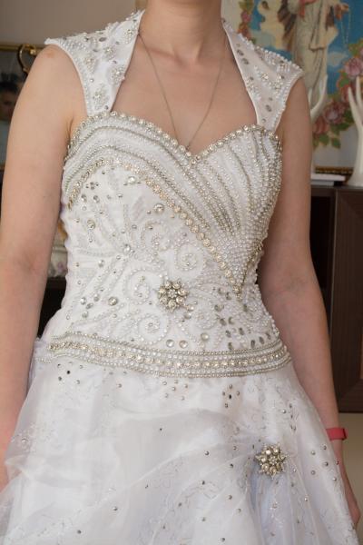 Rankų darbo vestuvinė suknelė pagaminta Švedijoje-1