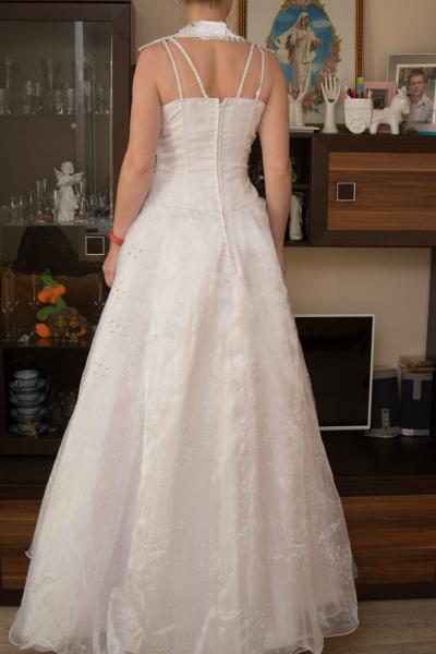 Rankų darbo vestuvinė suknelė pagaminta Švedijoje-3