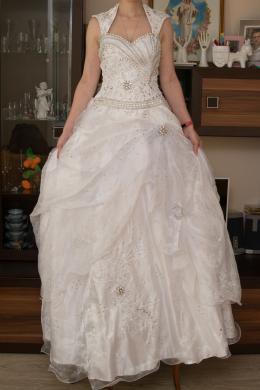 Rankų darbo vestuvinė suknelė pagaminta Švedijoje-4