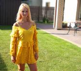 Geltona suknele-0