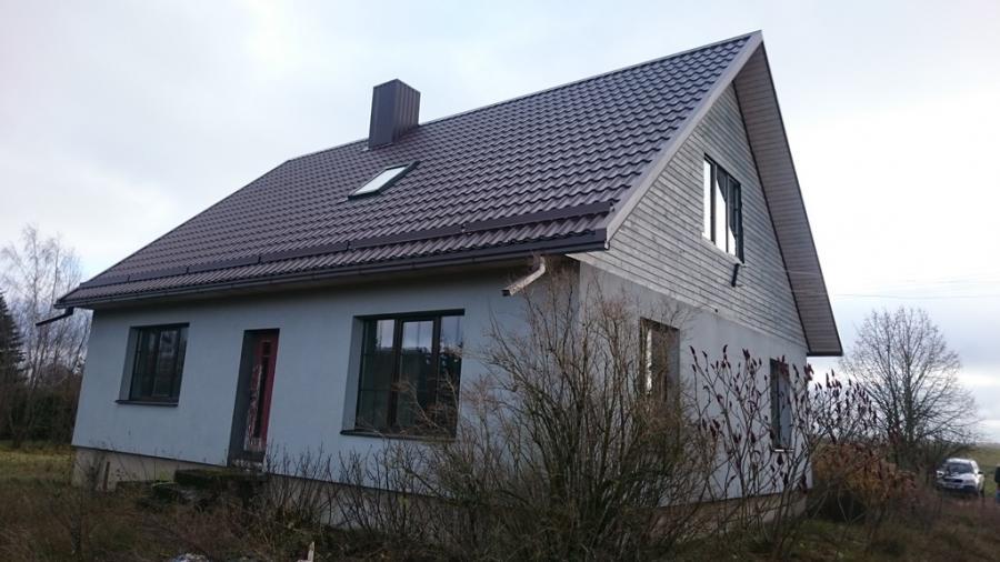 Apsiltintas namas kaime Ukmerges raj.-0