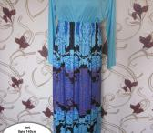 Mėlyna ilga suknele-0