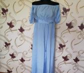 Ilga mėlyna suknele-0