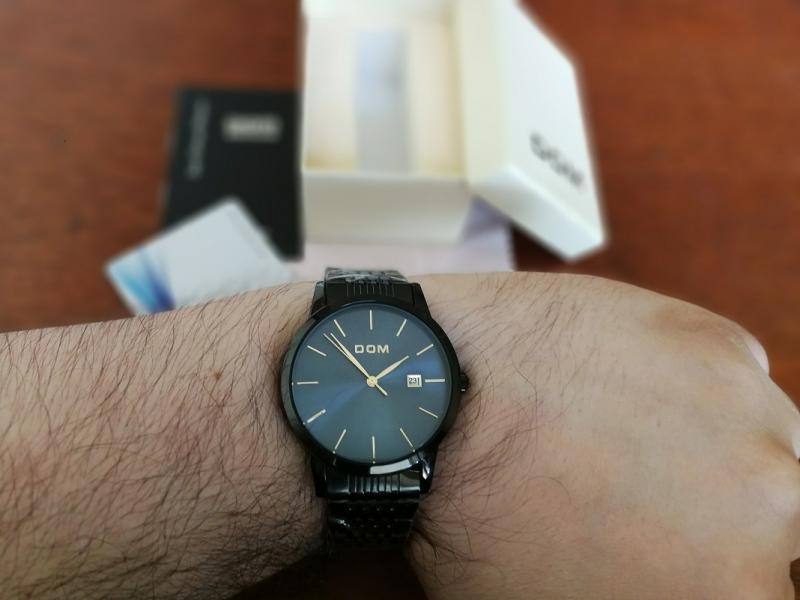 DOM patrauklus klasikinis laikrodis firminėje dėžutėje-3