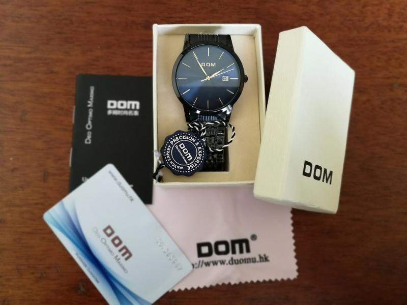 DOM patrauklus klasikinis laikrodis firminėje dėžutėje-4