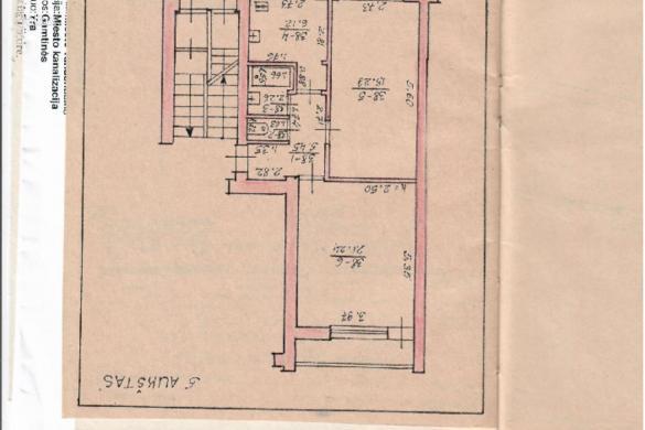 Parduodamas gero išplanavimo erdvus 2 kambarių butas Vinčų g.-6