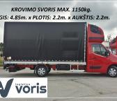 Krovinių Pervežimas! Ilgis 4.85m . x plotis 2.2m. x aukštis 2.2m. / galim krautis iki 1150kg. ( Europa - Lietuva ) .  Transporto Paslaugos įmonėms, vykstančioms į užsienio parodas ! Galime pristatyti Jūsų krovinį į vietą per labai trumpą laiką. ! Kroviniu-0